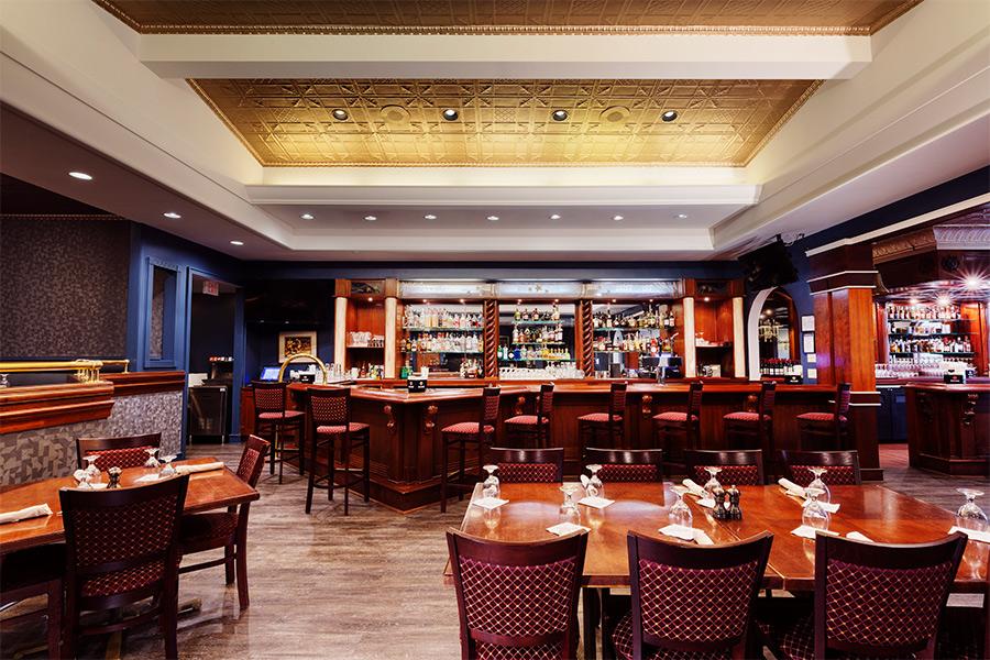 restaurant interior and bar